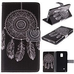 For Samsung Galaxy Note Wallet / Card Holder / with Stand / Flip Case Full Body Case Dream Catcher PU Leather Samsung Note Edge
