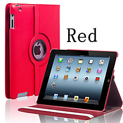 Embossed PU Leather 360º Swivel Bracket Type Flat Leather Suitable For Ipad2 3 4 (Assorted Colors)