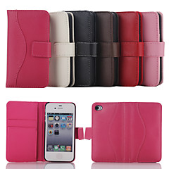 Compatible  Genuine Leather Case with Card Slot  for iPhone 4/4S