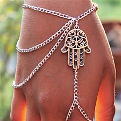 FATIMA's Hand Mitten Bracelet(Silver)(1Pc)