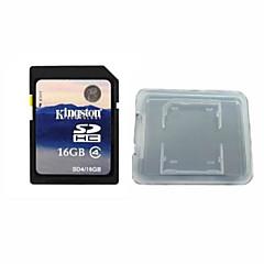 킹스톤 디지털 16기가바이트 클래스 4 SD 메모리 카드와 메모리 카드 상자