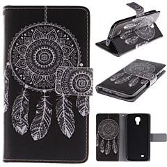 hvid dreamcatcher mønster pu læder hele kroppen tilfældet med stativ og kort slot til Samsung Galaxy S4 / i9500