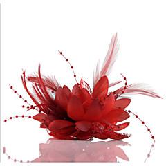 Γυναικείο Δαντέλα Απομίμηση Μαργαριτάρι Σιφόν Headpiece-Γάμος Ειδική Περίσταση Καθημερινά Υπαίθριο Διακοσμητικά Κεφαλής Λουλούδια Coroane