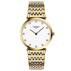 Herren Armbanduhr Quartz Wasserdicht Edelstahl Band Silber / Gold Marke