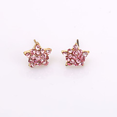Five-pointed Star Diamond  Stud Earrings Wedding/Party/Daily/Casual 2pcs
