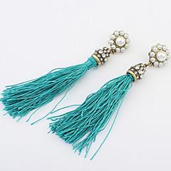 National Tassels  Pearl Drop Earrings