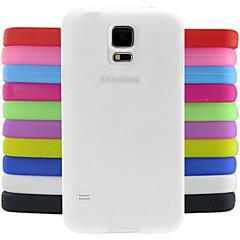 ל מגן סמסונג גלקסי עמיד בזעזועים מגן כיסוי אחורי מגן צבע אחיד סיליקון Samsung S5 Mini