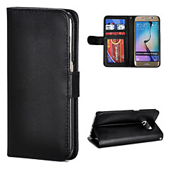 Magic Spider®Smooth Flip-open PU Leather Wallet Case with Screen Protector for Samsung Galaxy S6 edge(Assorted Color)