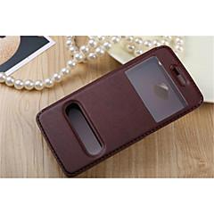 Mert HTC tok Állvánnyal / Betekintő ablakkal / Flip Case Teljes védelem Case Egyszínű Kemény Műbőr mert HTCHTC One M9 / HTC One M7 / HTC