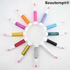 12PCS 2in1 Fine Pen Nib&Nail Polish Brush Nail Art Painting Pen Nail Art Decoration Kit