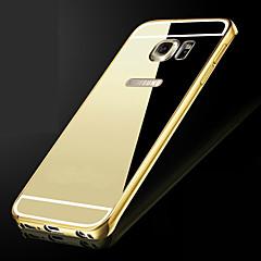 Luxus zogene Metallrahmen fügt transparente PC-Abdeckung Telefon Shell für Samsung-Galaxie s6edge