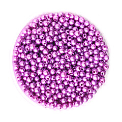 Beadia 58g(Approx 2000Pcs)  4mm Round ABS Pearl Beads Light Purple Color Plastic Beads