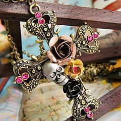 Damskie Naszyjniki z wisiorkami Flower Shape Cross Shape Skull shape Rose Stop Różowy Kolor ekranu Biżuteria Na Halloween