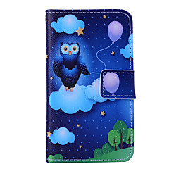 Magic Spider®Cloud and Owl Wallet Design PU Full Body Case with Screen Protector for Samsung Galaxy G355H