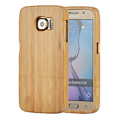 caso de volta protetora mágica material pattern spider® bambu com protetor de tela para Samsung Galaxy S6
