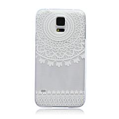 Mert Samsung Galaxy tok Áttetsző Case Hátlap Case Csipke dizájn TPU Samsung S6 edge / S6 / S5 Mini / S5 / S4 Mini / S4 / S3 Mini / S3