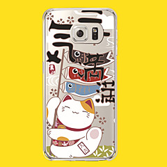 New Fashion 3D Beauty Flower Colorful Totem Tpu Cartoon Soft Case for Samsung Galaxy S6edge G9250
