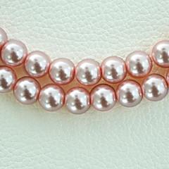 beadia 3 str (ca 580pcs) mode 4mm runda glas pärla pärlor rosa färg DIY spacer lösa pärlor