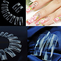 500 Professional Clear Transparent Korean Standards Half Well False Acrylic Nail Art Tips(50PCSx10 Sizes Mixed)