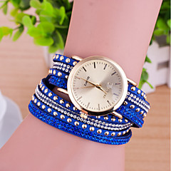 Hand Woven Women's Round Dial Tiger Leather  Band Quartz Analog  Braceiet Watch(Assorted Color)