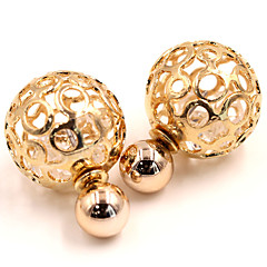 Earring Stud Earrings Jewelry Women Wedding / Party / Daily / Casual Silver Plated / Gold Plated 2pcs Gold / Silver