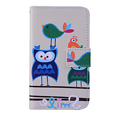 Magic Spider®Bird and Owl Wallet Design PU Full Body Case with Screen Protector for Samsung Galaxy G355H