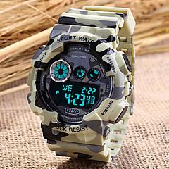 män idrott watch kamouflage militära designen digital display kalender / kronograf / larm / vattenresistent
