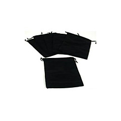 10pcs Black Velvet Drawstring Jewelry Gift Bags Pouches