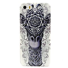 Thick Lip Giraffe Pattern PC Hard Back Cover Case for iPhone 4/4S