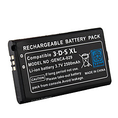 2500mAh 3.7V Rechargeable Lithium-ion Battery + Tool Kit Pack Compatible for Nintendo 3DS LL/XL