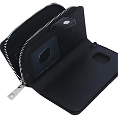 For Samsung Galaxy etui Pung Kortholder Magnetisk Etui Heldækkende Etui Helfarve Ægte læder for SamsungS7 edge S7 S6 edge plus S6 edge S6