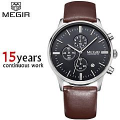 megir®chronograp schwarzen Lederarmband Quarz-business watch Luxus-Sport-Uhr-Mann-Markenuhr (verschiedene Farben)