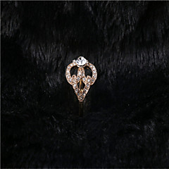 The Last Fashion Brighton Crystal/Alloy/Gold Plated Ring Diamond Style Band Rings Wedding/Party/Casual 1pc