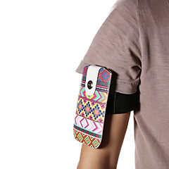 Universal Ethical Pattern PU Leather Hang Wist Band Wrist Strap for Mobile Phone under 5.2 inch