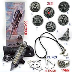 Korut / Rintanappi Innoittamana Assassin's Creed Ezio Anime/Video Pelit Cosplay-Tarvikkeet kaulakoru / Gauntlets / Rintanappi / Rintakoru