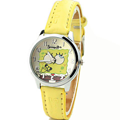 Kinderen Modieus horloge Kwarts PU Band Cartoon Geel Merk-