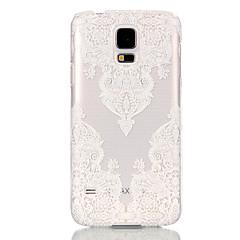 Mert Samsung Galaxy tok Átlátszó Case Hátlap Case Csipke dizájn PC Samsung S6 edge / S6 / S5 Mini / S5 / S4 Mini / S3 Mini