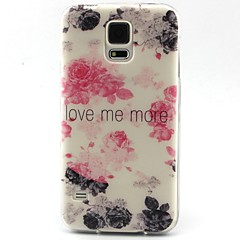 For Samsung Galaxy etui Mønster Etui Bagcover Etui Ord / sætning TPU for Samsung S6 edge S6 S5 Mini S5 S4 Mini S4 S3 Mini S3