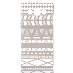 For Samsung Galaxy etui Transparent Mønster Etui Bagcover Etui Linjeret / bølget PC for Samsung A5 A3