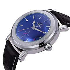 Men's Simple Dial Calendar PU Leather Band Automatic Self Wind Wrist Watch (Assorted Colors)
