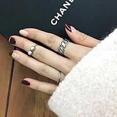Fashion Metal Pearl Midi Rings Ring Set(1 Set)