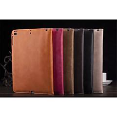 ensfarget pu skinn auto sleep / wake up folio tilfeller konvoluttvesker for ipad 2 3 4 (assortert farge)