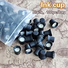스폰지 잉크 캡 홀더 잉크 반지 100PCS / 가방 영구 화장 잉크 컵