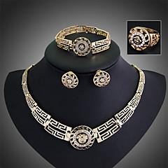 Dames Sieraden Set Oorknopjes Armband Ring Modieus Opvallende sieraden Vintage Festival/Feestdagen Kostuum juwelen Oostenrijks kristal