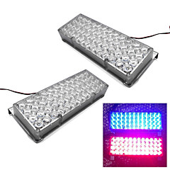 Merdia Highlighting Lights 2x48SMD LED 10W 700LM SMD LED Flashing Light/Warning Light(1set/12V,Red/Blue)