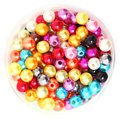 Beadia 64g(Approx 300Pcs)  ABS Pearl Beads 8mm Round Mixed Color Plastic Loose Beads DIY Accessories