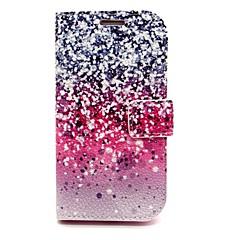 gnistrande stjärnan läderfodral med ställ till Samsung Galaxy s6 / S5 / S4 / s3 / s3 mini / S4 mini / s5 mini / s6 kant