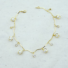 18K Golden Plated Pearl Bracelet