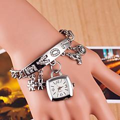 Dames Modieus horloge Armbandhorloge Gesimuleerd Diamant Horloge Kwarts imitatie Diamond Legering Band Zilver Goud Zilver Gouden