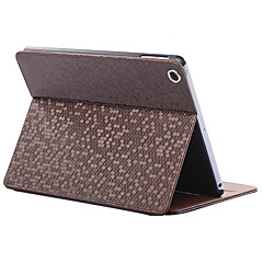 folding rombe pu lærveske med stativ for ipad mini 1/2/3 (assorterte farger)